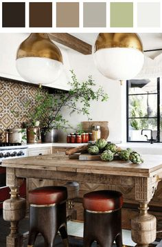 Chic modern moroccan kitchen, Avoid too vibrant colors. Choose one color as the accent – this will make the interior modern. Better keep the walls in neutral colors – white/rye/beige/sandy tones. Rustic Kitchen Design, Home Decor Kitchen, Interior Design Kitchen, Interior Modern, Kitchen Ideas, Kitchen Decorations, Decorating Kitchen, Kitchen Trends, Apartment Kitchen