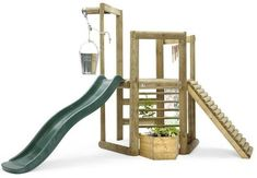 Order the Plum Discovery Woodland Treehouse from Swing and Play! The Plum Discovery Woodland Treehouse is for natures little ambassadors. As they climb and slide children will discover the en Backyard Playset, Garden Playhouse, Playhouse Ideas, Playhouse Outdoor, Cubby Houses, Play Houses, Discovery Play, Bamboo Wind Chimes, Unique Garden