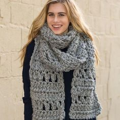 Use mega-bulky, jumbo yarn to crochet this extra cozy Foggy Crochet Super Scarf. Worked up using double crochet stitches and chain stitches, this crochet super scarf pattern is so easy to make.