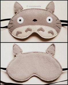 Totoro sleep mask is a must make for my Madison 😊 Felt Crafts, Diy And Crafts, Anime Crafts, Anime Diys, Craft Projects, Sewing Projects, Kawaii Diy, My Neighbor Totoro, Sleep Mask