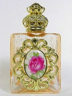 Bohemian glass perfume bottle