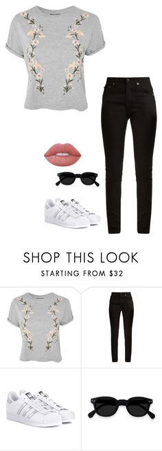 """""""Untitled #1216"""" by h1234l on Polyvore featuring Topshop, Yves Saint Laurent, adidas Originals and Lime Crime"""