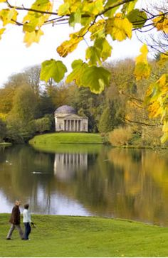 Stourhead,Wiltshire  'A living work of art' is how Stourhead was described  when it opened in the 1750s. Designed by Henry Hoare II as a series of carefully constructed views,like scenes from a landscape painting & at the forefront of the 18th-century English landscape movement.The garden was inspired by Dutch landscape paintings of the 16th & 17th centuries.These paintings did not capture reality but represented an ideal. Estate owners,no longer content to just hanging these ideals on the wall.