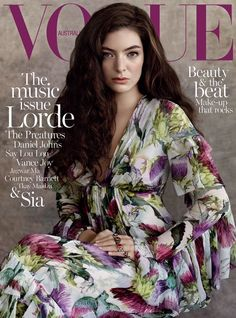 Lorde graces the July 2015 cover of Vogue Australia