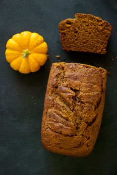 Healthy one-bowl pumpkin bread made with honey, coconut oil and whole wheat flour! - cookieandkate.com