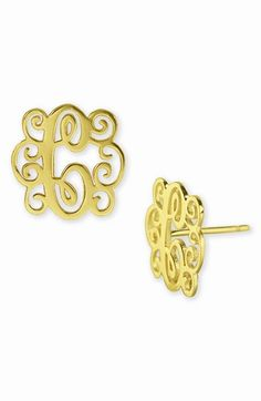 #monogram earrings