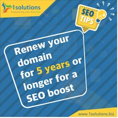 Domain age is considered as one of the essential factors which contributes to your organic rankings. A domain name registered for a longer duration will definitely add more boost to your SEO rankings. #SEOTips #SEO #SEORankings Visit us at www.1solutions.biz Seo Services Company, Best Seo Services, Best Seo Company, Professional Seo Services, Seo Ranking, Seo Tips, Factors, Organic, Ads