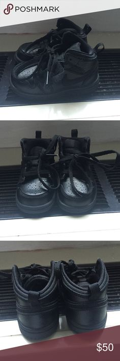 Jordan all black infant ones Infant size 5c Jordan ones for sale. My son never worn these :(. I have so many sneakers my son wore once and unfortunately out grew them so I will be selling a couple. Shoes Sneakers