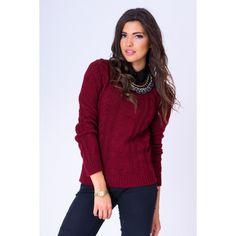 Bordový dámsky pletený sveter - fashionday.eu Turtle Neck, Sweaters, Fashion, Moda, Fashion Styles, Sweater, Fashion Illustrations, Sweatshirts, Pullover Sweaters