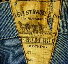 Levi Strauss Spring Bottom Pants, 1910