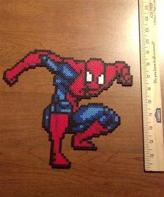 Spiderman Perler bead art.  $15