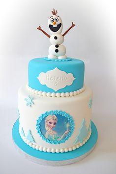El pastel de Frozen