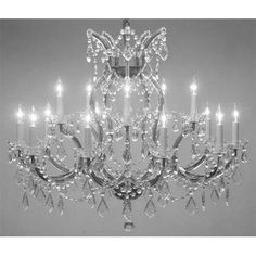 Swarovski Crystal Trimmed Maria Theresa Chandelier Crystal Lighting Chandeliers Lights Fixture Pendant Ceiling Lamp For Dining Room Entryway Living Room X - Plug In Chandelier, Crystal Chandelier Lighting, Chandelier Shades, Empire Chandelier, Victorian Chandelier, Simple Chandelier, Bathroom Chandelier, Chandelier Ideas, Victorian Decor