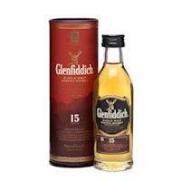 Glenfiddich 15 year old Single Malt Scotch Whisky Miniature £4.25