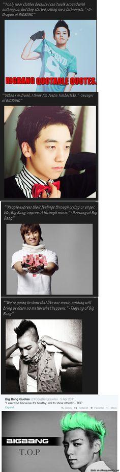 I love what GD said tho And Seungri's sooo super cute xD Daesung and Taeyang are also really attractively passionate towards the music they make Daesung, Vip Bigbang, Big Bang Memes, Big Bang Kpop, Dramas, Hip Hop, Meme Center, Korean Bands, Jiyong
