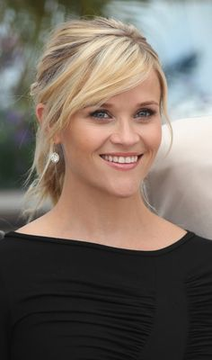 Hairstyles For Medium Hair - Ponytail With Side-Swept Bangs