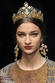 Dolce & Gabbana at Milan Fashion Week Fall 2013