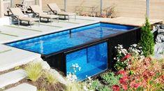 Eski konteynerden yeni havuz Eğer ufak da olsa bir bahçeniz varsa, kendinize ait bir havuza sahip olmanız oldukça kolay.