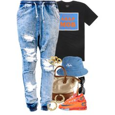 A fashion look from September 2014 featuring H&M handbags. Browse and shop related looks.