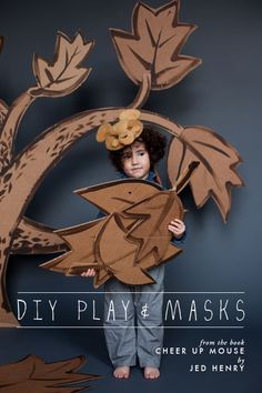 DIY play and masks from the book Cheer Up Mouse by Jed Henry with photography by @Ashley Thalman