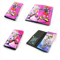 Anime Kingdom Hearts PU Wallet Purse Black Purse Handbag Layers Wallets Otaku