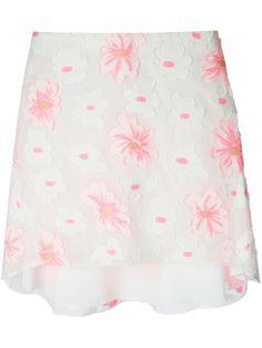 Chloé Embossed Flower Asymmetric Skirt - Luisa World - Farfetch.com