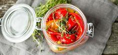 Grillet paprika i olivenolje