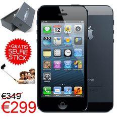 16GB iPhone 5 - 100% refurbished - in nieuw-staat voor €299! www.euro2deal.nl