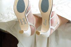 Heather Schwartz weds John Zelehoski at the Brielle River House, Brielle NJ • Shoes: Alan's Fine Footwear, Edison • New Jersey Bride Real Weddings