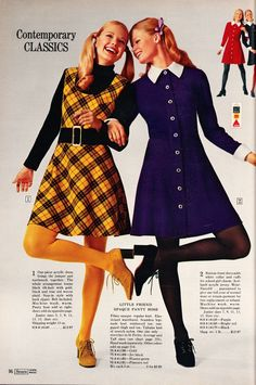 Contemporary classics Sears - Kathy + Karen - Contemporary classics Sears – Kathy + Karen The Effective Pictures We Offer You About fashi - 1960s Mod Fashion, 70s Inspired Fashion, Sixties Fashion, Vintage Fashion, 70s Outfits, Vintage Outfits, Fashion Outfits, Fashion Trends, 00s Mode