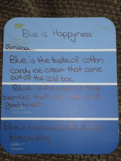 Fabulous in Fourth!: Paint Chip Poetry