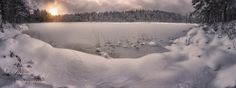 Winterland II - About ten shots combined to this panorama. Happy New year everyone :)