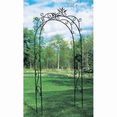 Dimensions: 48W x 16D x 113H inches - Achla Designs Tuileries 9.5-ft. Iron Arch Arbor - $385.98 @hayneedle