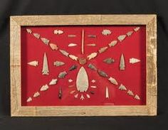 Love this arrowhead display!