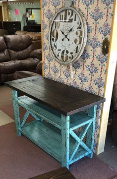 Rustic TV Stand by SpannCustoms on Etsy