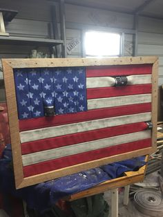 Fire Hose American Flag by ComoCustomCrafts on Etsy