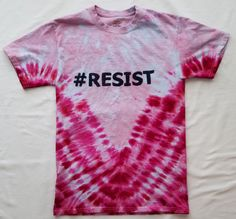 tie dyed shirt in pink. Other colors available