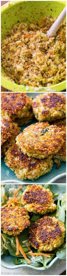 These simple crispy quinoa patties are so versatile. They're a great meatless option that even meat eaters will love. Play around with your favorite vegetables and spices. Makes great leftovers!