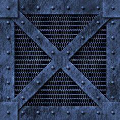 blue wire mesh rivets steel plate