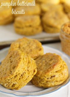 New breakfast favorite!! These Pumpkin Buttermilk Biscuits Recipe will be a hit around the breakfast table.