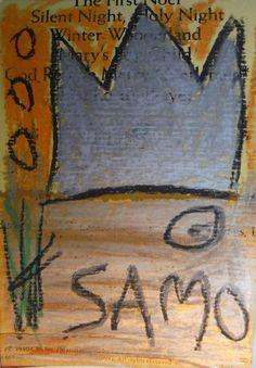 signed original vintage SAMO Street Art postcard circa 1981 Basquiat Warhol era #Expressionism