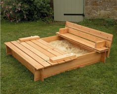 covered sand box with benches