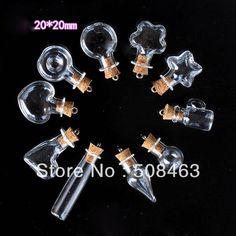 Transporte livre!! 11pcs/lot misturou o pendente pequeno do vidro do encanto do óleo essencial do perfume do