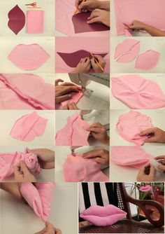 How to make a pillow or cushion with Piping attached - Sewing Method Bow Pillows, Cute Pillows, Sewing Pillows, Diy Arts And Crafts, Diy Crafts, Sewing Crafts, Sewing Projects, How To Make Pillows, Sewing For Kids