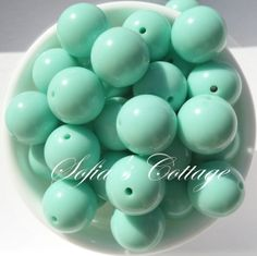20mm Chunky Mint Green Beads 20mm Chunky Mint by SofiasCottage, $1.75