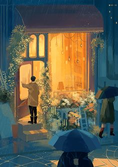 Image uploaded by tomatoro. Find images and videos about beautiful, art and illustration on We Heart It - the app to get lost in what you love. Art And Illustration, Aesthetic Art, Aesthetic Anime, Korean Aesthetic, Pretty Art, Cute Art, Stock Design, Korean Art, Anime Scenery