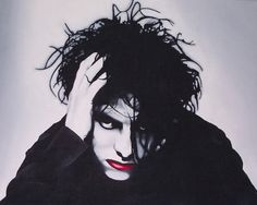 The Cure's Robert Smith Portrait Print #HSN #HouseBeautiful