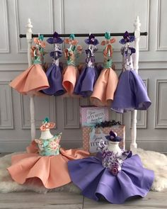 Peach or Purple? Tell us your favorite!  Leila Dress  Order here  www.ittybittytoes.com  Worldwide Delivery ✈️ittybittytoes