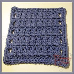 Clusters Squared: A Six Inch Square in Rows, free crochet pattern by Designs from Grammy's Heart for Mystery Lapghan CAL