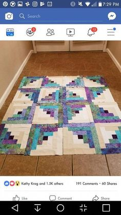 Quilt binding with words tutorial – binding logcabins quilt Tutorial words … - quilt patterns Batik Quilts, Jellyroll Quilts, Scrappy Quilts, Easy Quilts, Log Cabin Quilt Pattern, Log Cabin Quilts, Log Cabins, Colchas Quilting, Quilting Designs